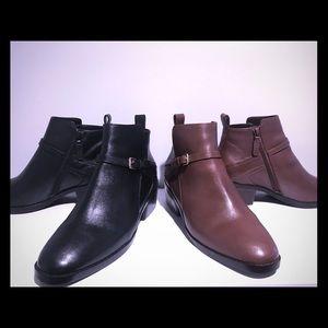 Two pair Cole Haan booties; each pair 75.00